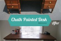 desk/chalk paint