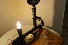bar and lamp