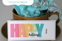 Gift tags and wrap