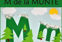 Litera M / Letter M / Invatam literele alfabetului. Litera M