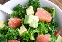 Kale, avocado & grapefruit salad / Kale, avocado & grapefruit salad