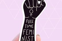 Feminist and anti-oppressive stickers