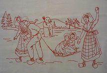 Broderie vintage / Vintage embroidery patterns