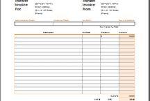 Microsoft Excel Invoices