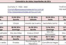 Calendário / Inicio do ano que tal se organizar e planejar? Então fiz um calendário de datas importantes para ajudar vocês. Um ótimo ano!