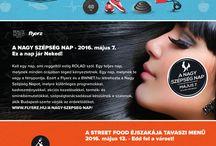 FLYERZ 2016 TAVASZI SZÁM / #magazine #Flyerz  #streerfood #makeup #bbq #up #coronita #burger #beer #parties #Kraft #food #body #fitness #hair