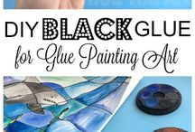 Glue & Watercolor Projects / Glue and Watercolors make a fabulous art project. Whether you are learning How to Make Black Glue, or using White Glue for your Glue Drawing Art projects, check this Glue Art project board for inspiration. Love Black Glue Art!