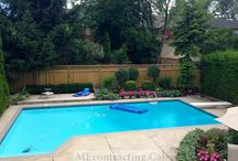 Interlocking Pool Deck with Privacy Fence / Take a dip in a gorgeous pool or relax on the deck in complete privacy!