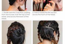 Hairstyle / Penteados com tranças.
