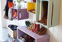 Sewing room - storage and decor / by Windy Mayes Sibbersen