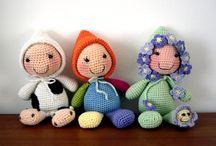 crocheted toys, dolls, etc.