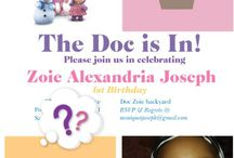 doc mcstuffins birthday party planning / Simple Ideas for planning a Doc McStuffins themed birthday party for my daughter's first birthday.  Everything on this board I either made or purchased