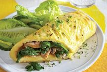 Spinach and mushrooms omelette