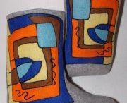 My felt.Shoes for the house. / Валенки,палантины и все,что я создаю из шерсти.