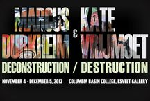 Deconstruction/Destruction at the Esvelt Gallery / ELSVELT GALLERY November 2-December 6 2012 Columbia Basin College November 2013 Accident Paintings Columbia Basin College. 2600 North 20th Avenue, Pasco, WA 99301