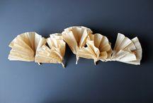 kağıt kahve filitresinden çelenk