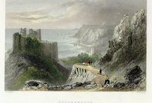 Mumbles Lighthouse (before Mumbles Pier was built)