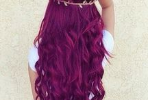 [colorful hair] purple