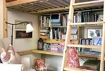 bunk bed and desks