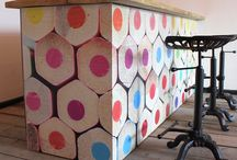 Funky Design Studio / Funky furniture from reclaimed wood using innovative design and bright accent colours