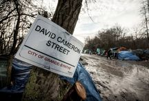 Street Sign at Grande-Synthe & Calais Refugee Camps