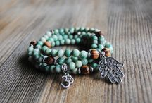 Iskra Creations / Pressed flower jewelry and meaningful mala necklaces and bracelets