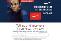 Receive a $250 Nike Gift Card / Receive a $250 Nike Gift Card!  Just click on the link to see how : http://bit.ly/2KuhdNG