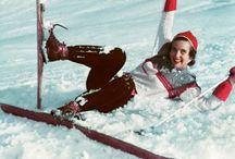 Vintage skiglede