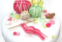 Gâteaux décorés tricot , couture