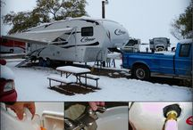 Winter RV Tips / Traveling in the cold with your RV? Use these tips to keep you and your RV safe!