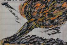 pintores Mexicanos y pintores en Mexico / Dibujos de los pintores Diego Rivera, Jose Clemente Orozco y David Alfaro Siquieroz, Emma Filipsson pintora, Tamayo, Remedios Varo, Leonora Carrington, Jose Maria Velasco