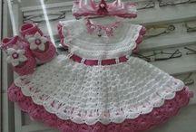 vestido de croché infantil