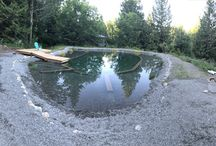 Natural pool/swimming pond in BC, Canada