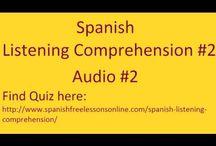Spanish Listening-Comprehension Audios & Quizzes