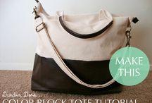 Diaper bags/Tote bags / by Josie Meyer