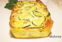 Pastel Calabacín y queso.