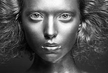 Metallic paint / Fashion Photography