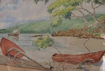 Acuarelas paisajistas / Pintura en agua de paisajes naturales