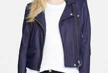 leather. motorcycle. jacket. / by Nancy Solla
