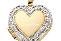 Fine Polished Gold Heart and Round Lockets / Beautiful Memories in a Beautiful Jewelry - Close to Your Heart: Avail genuine diamond jewelry at pippinbass.