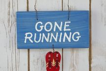 Running Signs / Our running signs make great gifts for runners. Some have humorous messages and others simply explain where you have popped off too!
