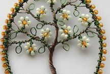 Beaded wire tree making