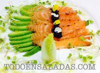 Recetas de ensaladas / Recetas de ensaladas, ensaladas con arroz, mariscos y otros ingredientes. Ensaladas de verano o estacionales.