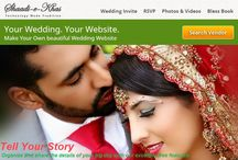 Wedding Websites ( Wedsites ) / Shaadi-e-Khas introduces a collection of wedding website designs with variety of colors and enticing features.