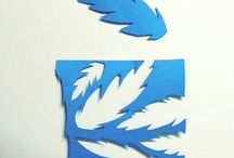 Chris cross November / I've decided to do a little paper cut piece everyday this November. #challengetime