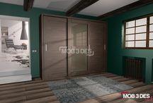 Armario colgante DA013 / Si estáis pensando en dar un nuevo aire al #dormitorio... Os enseñamos el nuevo #diseño de  #armario que hemos diseñado en @Mob3des. #interiorismo #decoración