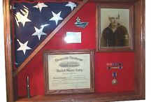 Memorial flag tribute displays