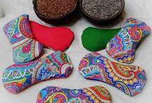almohadillas con semillas