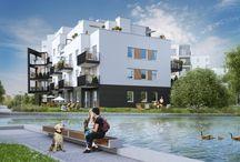 Lake Park Apartments / Enklawa 5 budynków wchodzących w skład Lake Park Apartments zlokalizowana jest wokół dużego jeziora. Apartamenty posiadają własne ogródki i tarasy oraz wyjątkowy widok na otaczająca zieleń i jezioro.