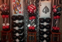 casino balloons decor / by Rosielloons